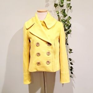 J. Crew Yellow Wool Button Jacket Coat